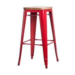 Czerwony stołek barowy D2 Paris Ash Wood