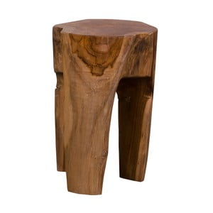 Taboret z drewna tekowego House Nordic Rose