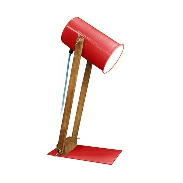 Czerwona lampa stołowa Baltic, 45 cm