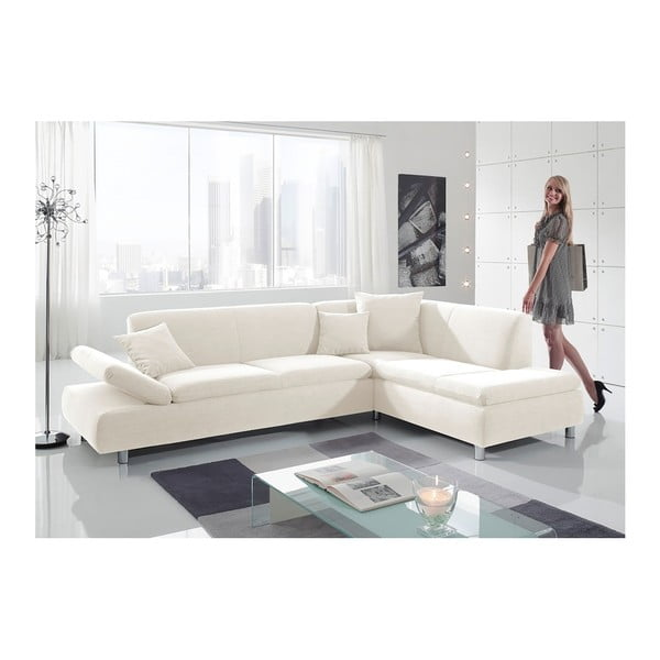 Kremowa sofa narożna Max Winzer Prag, prawostronna