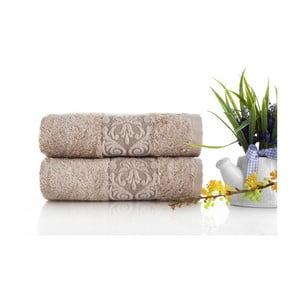 Zestaw 2 ręczników Bamboo Glory Salmon, 50x90 cm
