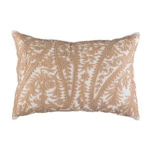 Poszewka na poduszkę, biała z beżową fakturą