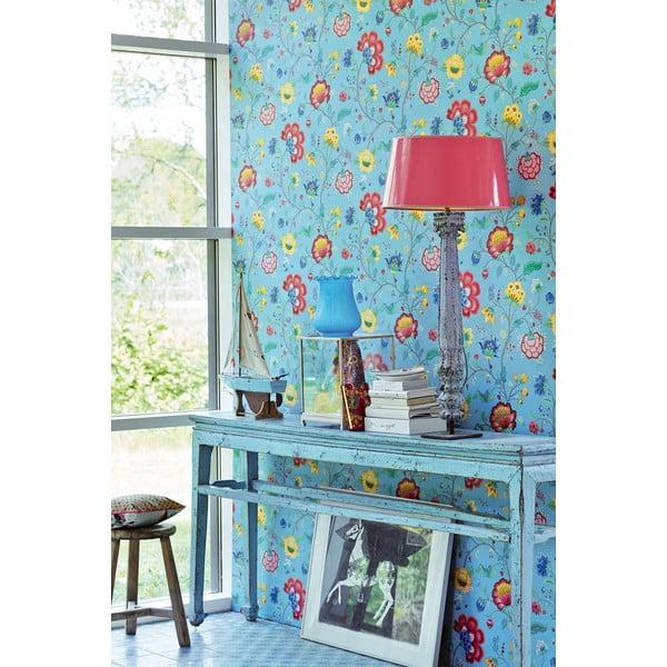 Tapeta Pip Studio Floral Fantasy, 0,52x10 m, jasnoniebieska