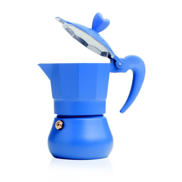Mała, niebieska kawiarka Lovexpress