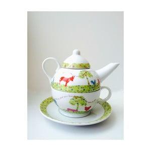 Dzbanek na herbatę z filiżanką Country
