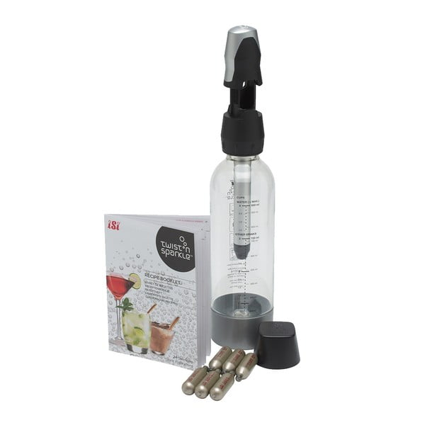 Zestaw do produkcji wody gazowanej iSi Twist&Sparkle + 6 nabojów