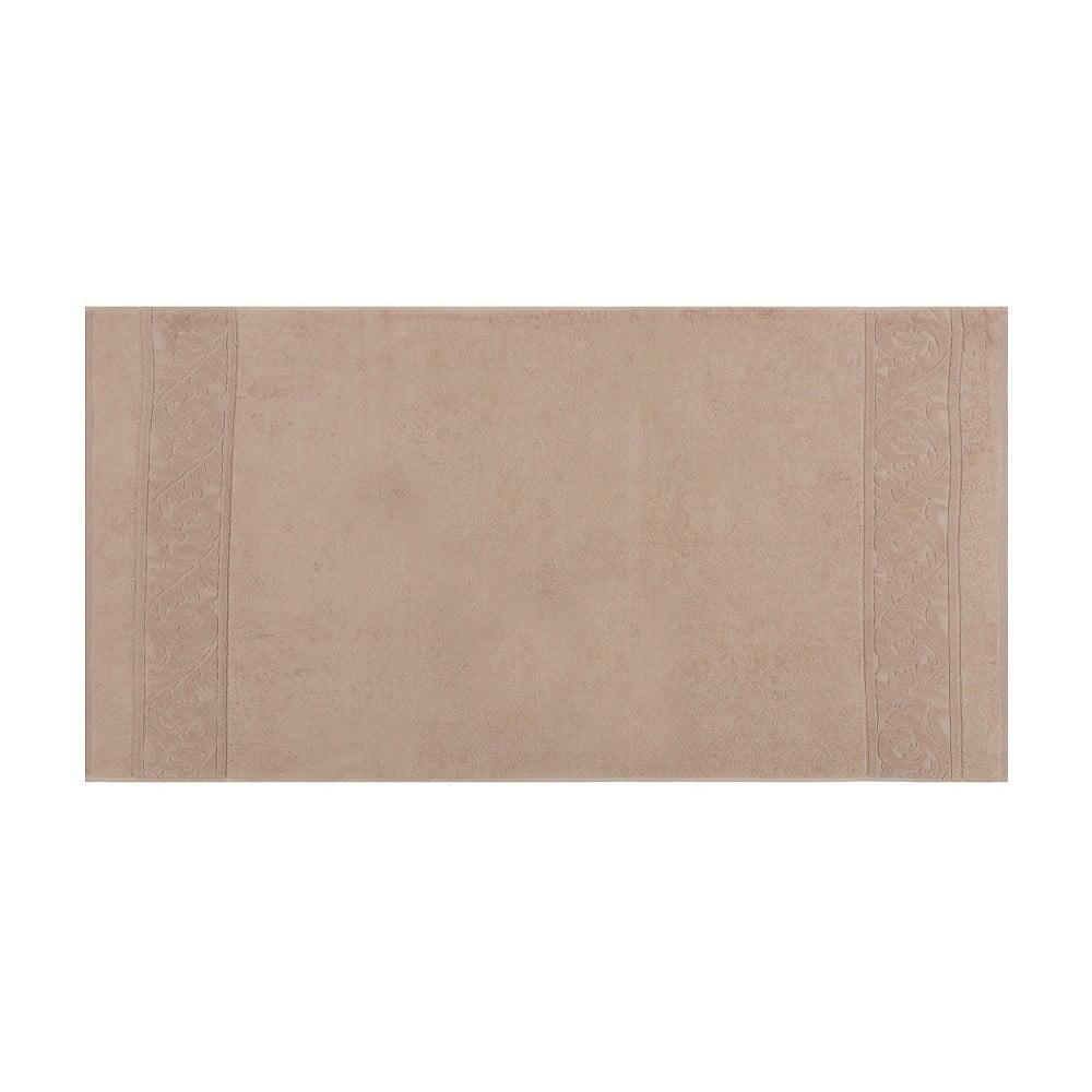 Zestaw 2 brązowych bawełnianych ręczników Akdeniz, 70x140 cm