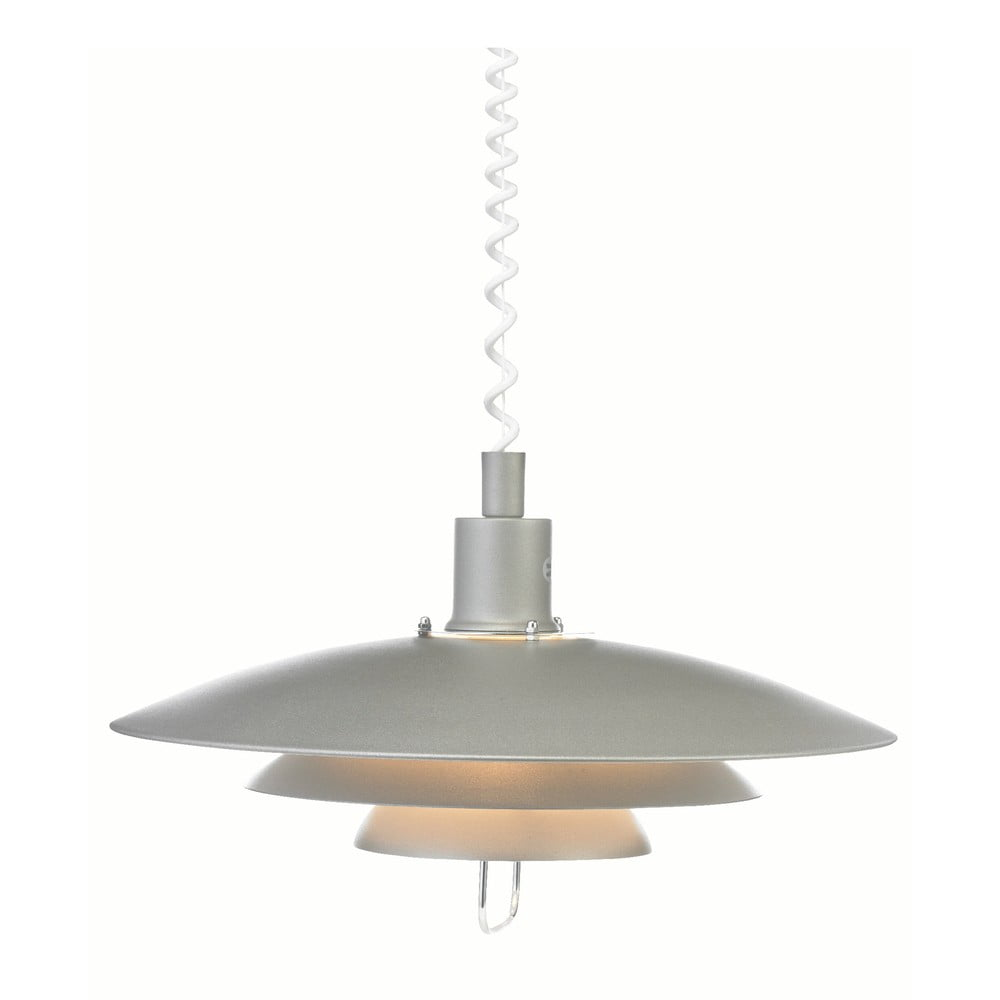 Szara lampa wisząca Markslöjd Kikrenes, ø 48 cm