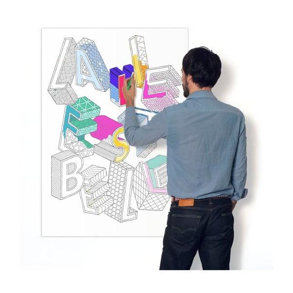 Kolorowanka La Vie Est Belle (70 x 100 cm)