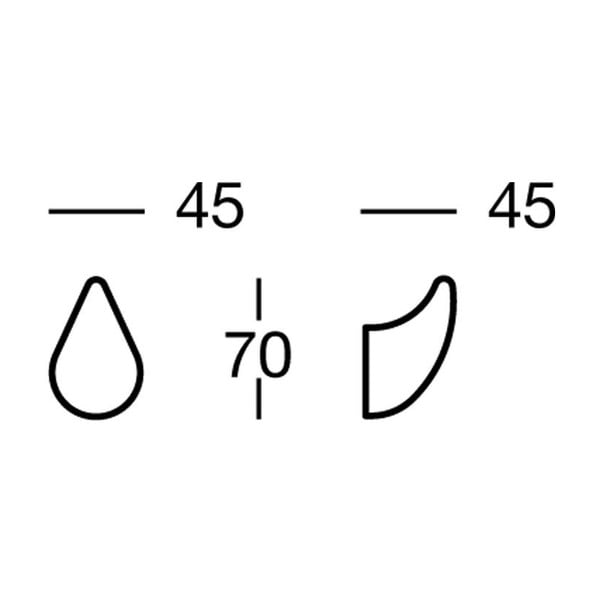 Haczyk Nikmatt, 4,5x7x4,5 cm