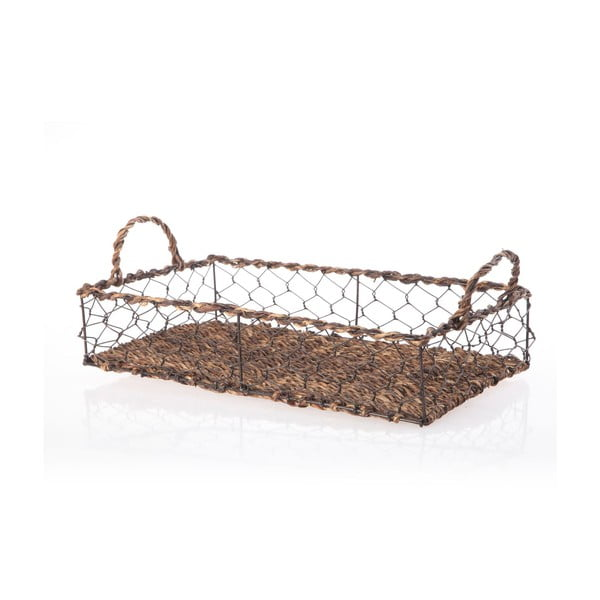 Wiklinowa taca Wicker Rectangle, 39 cm