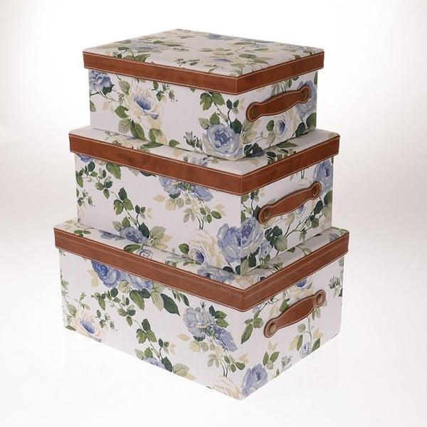 Zestaw 3 pudełek Blue Roses