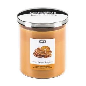Świeczka zapachowa o zapachu pomarańczy i bursztynu Copenhagen Candles Sweet, czas palenia 70 godz.