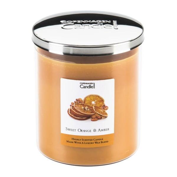 Świeczka zapachowa Sweet Orange & Amber, czas palenia 70 godzin