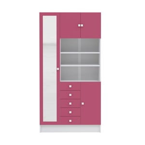 Różowa szafka łazienkowa Symbiosis André, szer.90cm