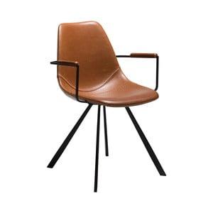 Jasnobrązowe krzesło z podłokietnikami DAN-FORM Denmark Pitch