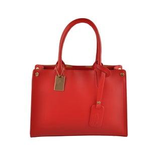 Skórzana torebka Emilio Masi Manor, czerwona