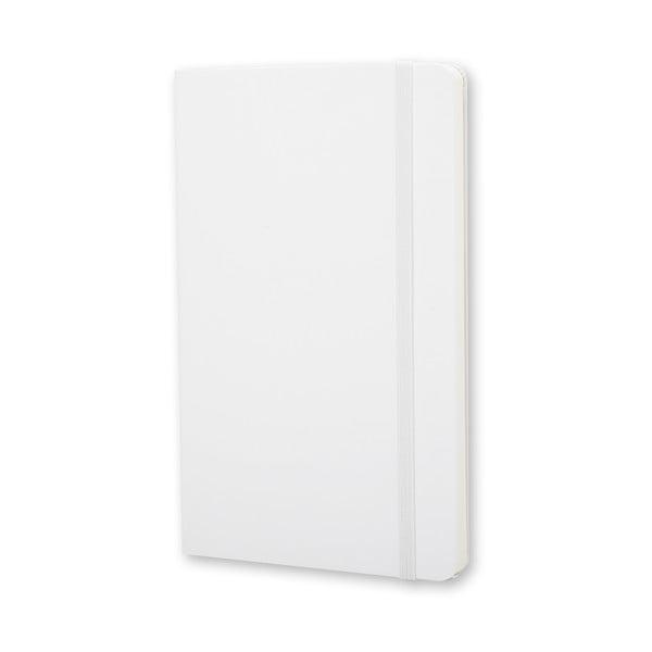 Notatnik Moleskine Hard 9x14 cm, biały + czyste strony