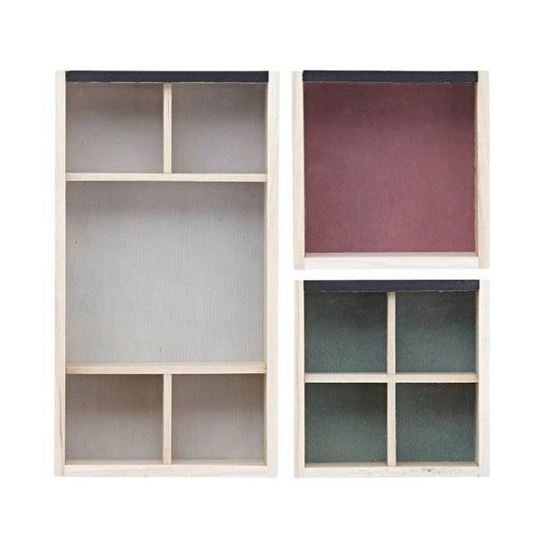 Zestaw 3 szkatułek na biżuterię Colour Print