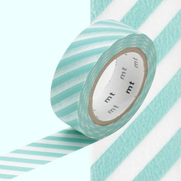 Taśma dekoracyjna washi Stripe Mint