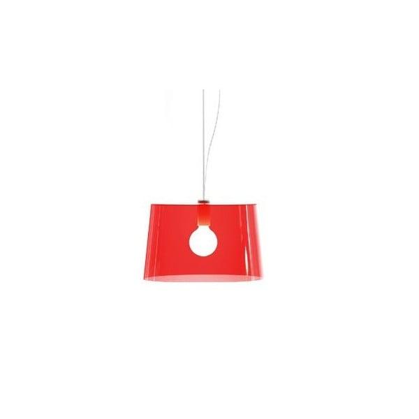 Lampa sufitowa Pedrali L001S/B, czerwona półprzeźroczysta