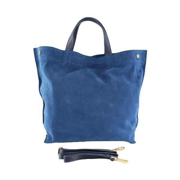 Skórzana torebka Wink, niebieska