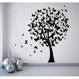 Naklejka na ścianę Motyle drzewo, 90x120 cm