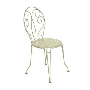 Jasnozielone krzesło metalowe Fermob Montmartre