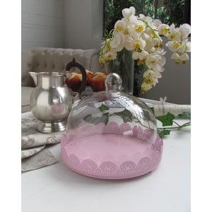 Patera z pokrywką Light Pink, 25x23 cm