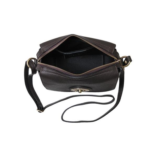 Ciemno-brązowa torebka skórzana Andrea Cardone Alessio