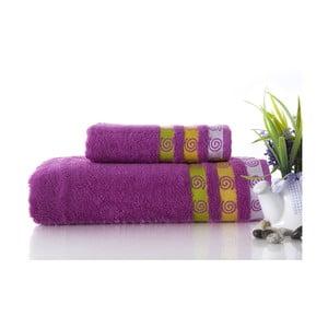 Zestaw 2 ręczników Truva Lilac, 90x150 i 50x90 cm