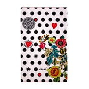Ręcznik DESIGUAL Polka Dots Negro, 95 x 150 cm