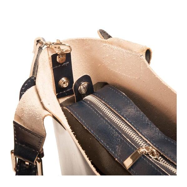 Ciemnoniebieska torebka skórzana Andrea Cardone Stefano