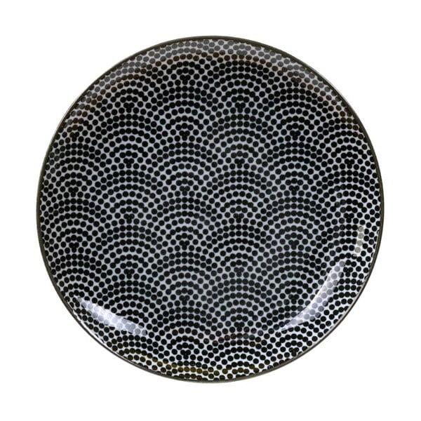 Czarno-biały talerz Tokyo Design Studio Nippon Dots,ø16cm