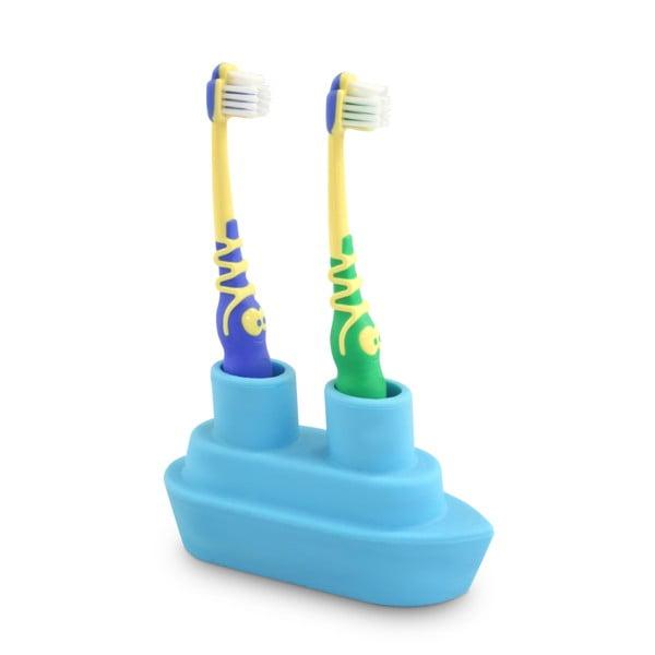 Niebieski stojak na szczoteczkę do zębów J-Me Boat