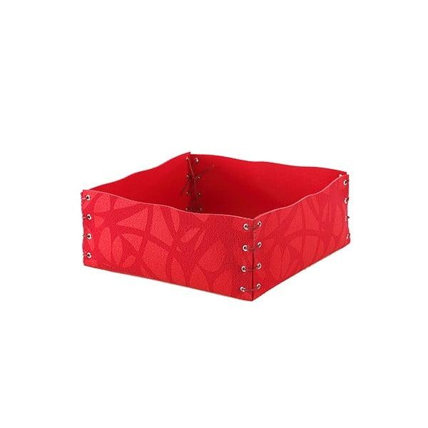Filcowe pudełko, 12x6 cm, czerwone