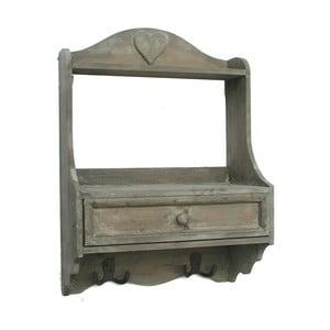 Półka ścienna Bolzonella z szufladą i haczykiem