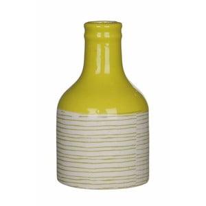 Żółto-biały wazon ceramiczny Mica Fabio, 14x8cm