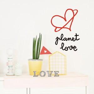 Naklejka dekoracyjna na ścianę Planet Love