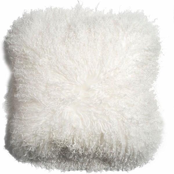 Poduszka ze skóry owcy tybetańskiej Ivory