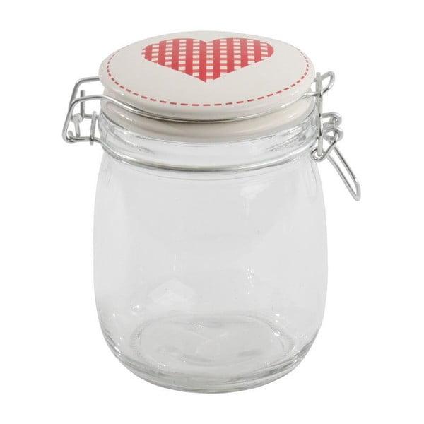 Szklane pojemniki z pokrywką  Heart 750 ml, 6 sztuk