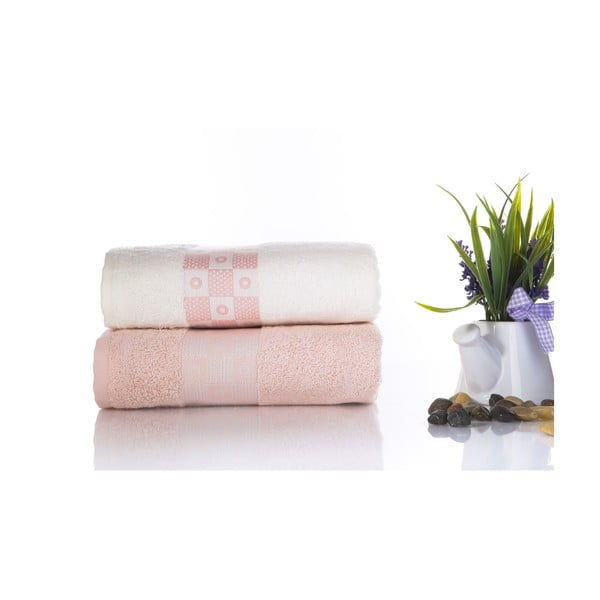 Zestaw 2 ręczników Anita V3, 50x90 cm