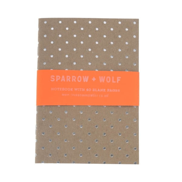Notes Silver Polka Dot
