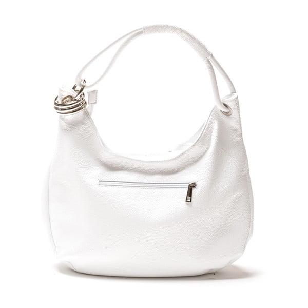 Skórzana torebka Carla Ferreri 1022 Bianco