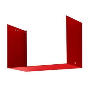 Półka Geometric Two, czerwona