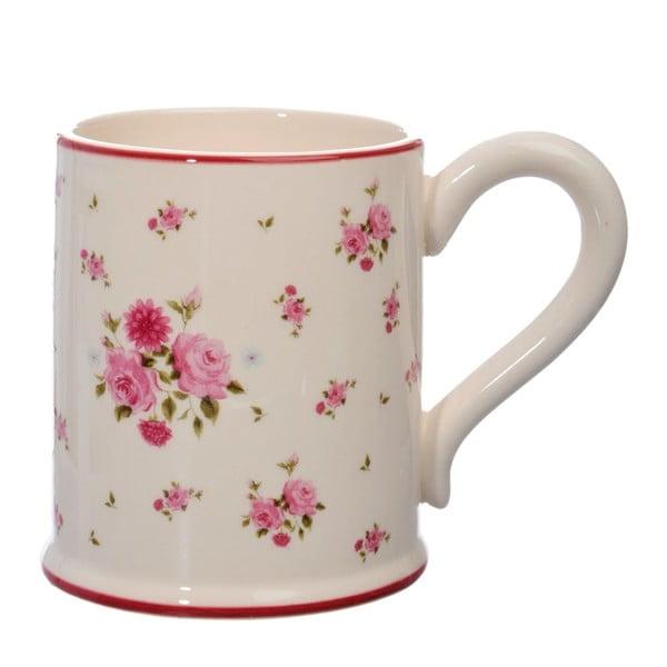 Ceramiczny kubek Rose, pink/white