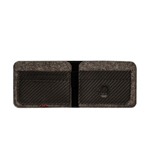 Skórzany portfel Éstie, ciemnoszary