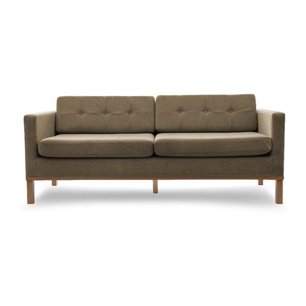 Sofa trzyosobowa VIVONITA Jonan Light Brown, naturalne nogi