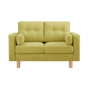 Limonkowa sofa dwuosobowa Stella Cadente Lagoa