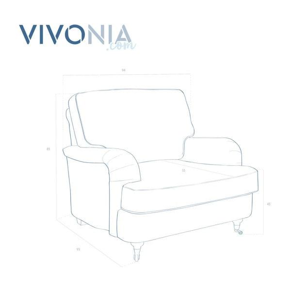 Jasnoszary fotel Vivonita William